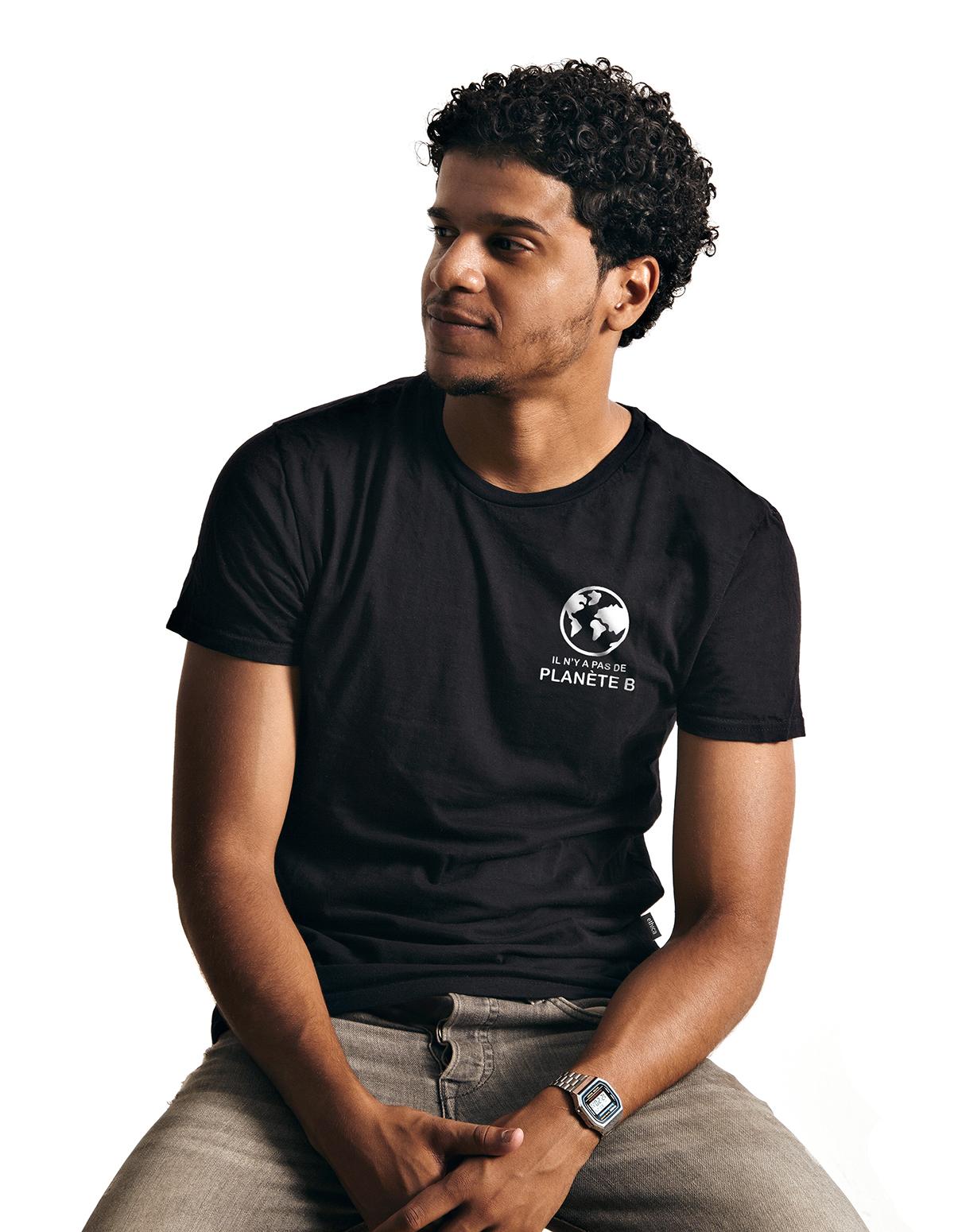 T-shirt col rond unisexe 386 - Pas de Planète B