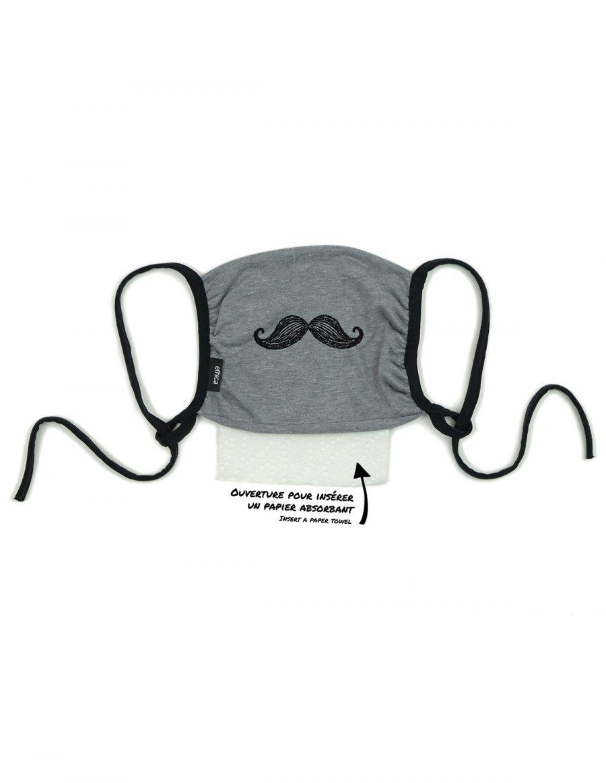 063U chine gris moustache
