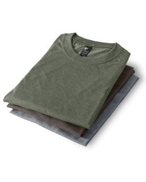 Set of 3 unisex crewneck t-shirts 386 - Nature
