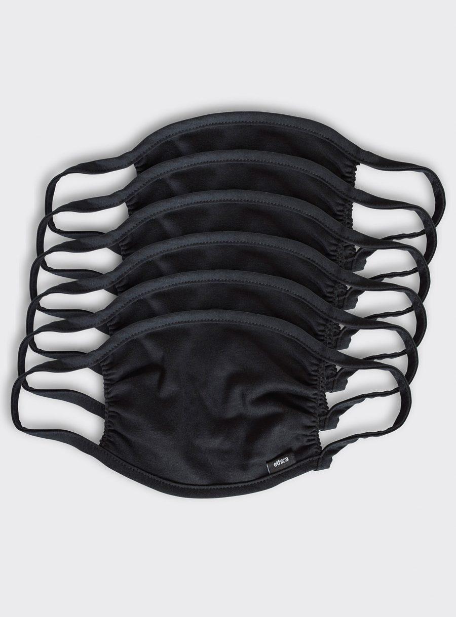 Set of 6 black masks