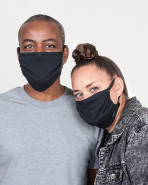 Set of 2 black masks