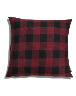 Plaid square cushion