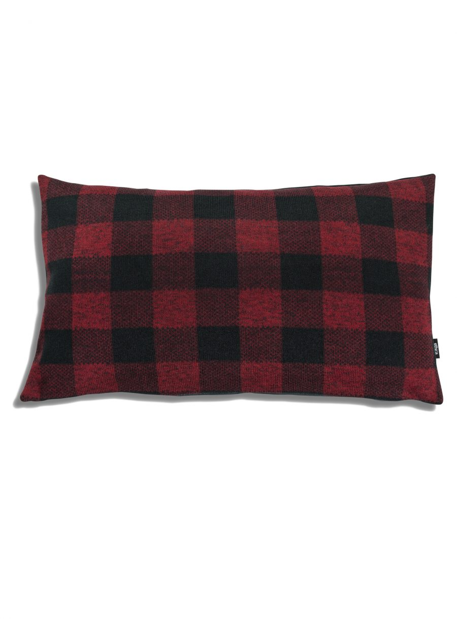 Plaid rectangle cushion