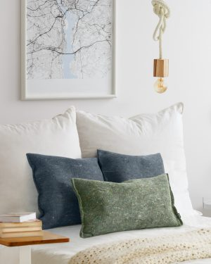 Recycled felt rectangle cushion