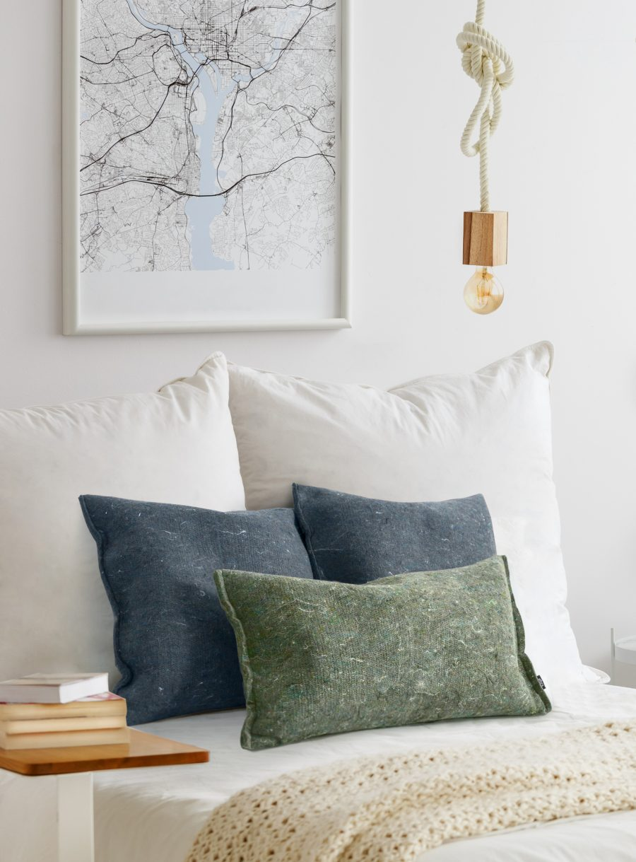 Recycled felt rectangle cushion