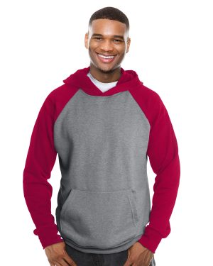 Hooded and raglan sleeve sweater unisex