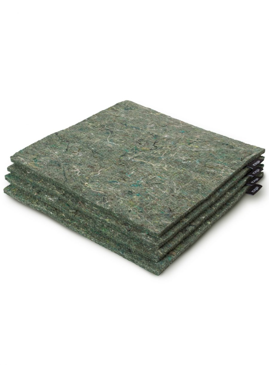 Set of 4 recycled felt trivets