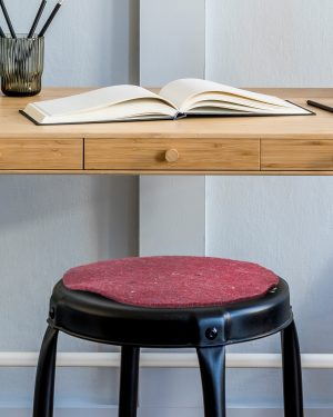 Set of recycled felt chairpads