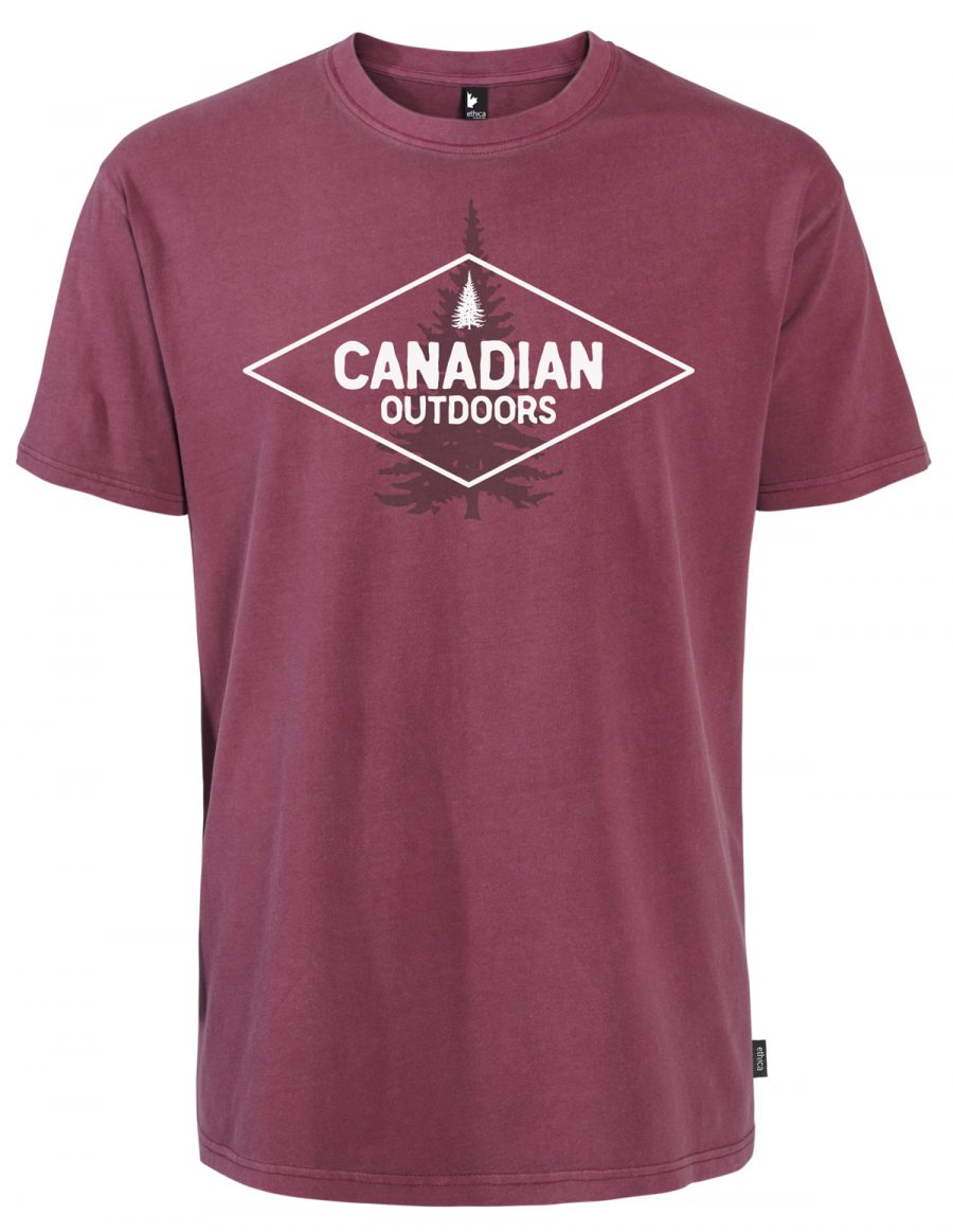 Unisex t-shirt - CANADIAN OUTDOORS - Burgundy