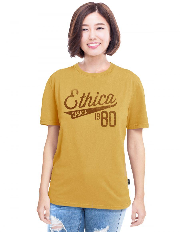 Boyfriend t-shirt 1980 - mustard