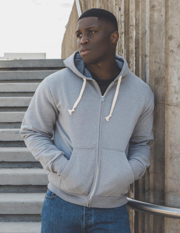 Unisex hooded full zip sweater 517 - Blank