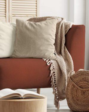 Plain neutral cushion