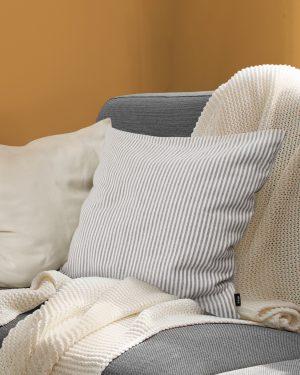 Fine striped cushion